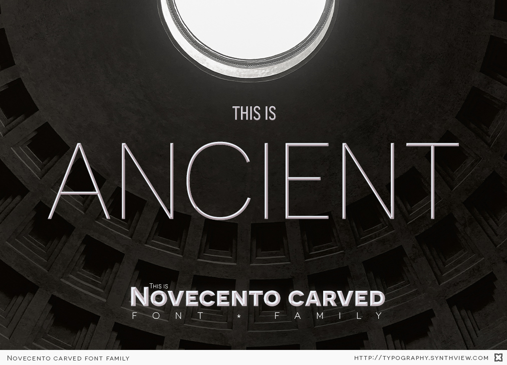 Novecento carved specimen: very thin weights can look as ancient inscriptions carved on stone