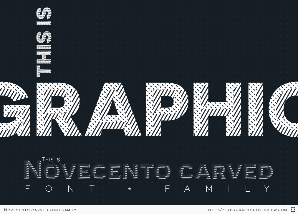 Novecento carved specimen: layers used as masks for graphic pattenrs