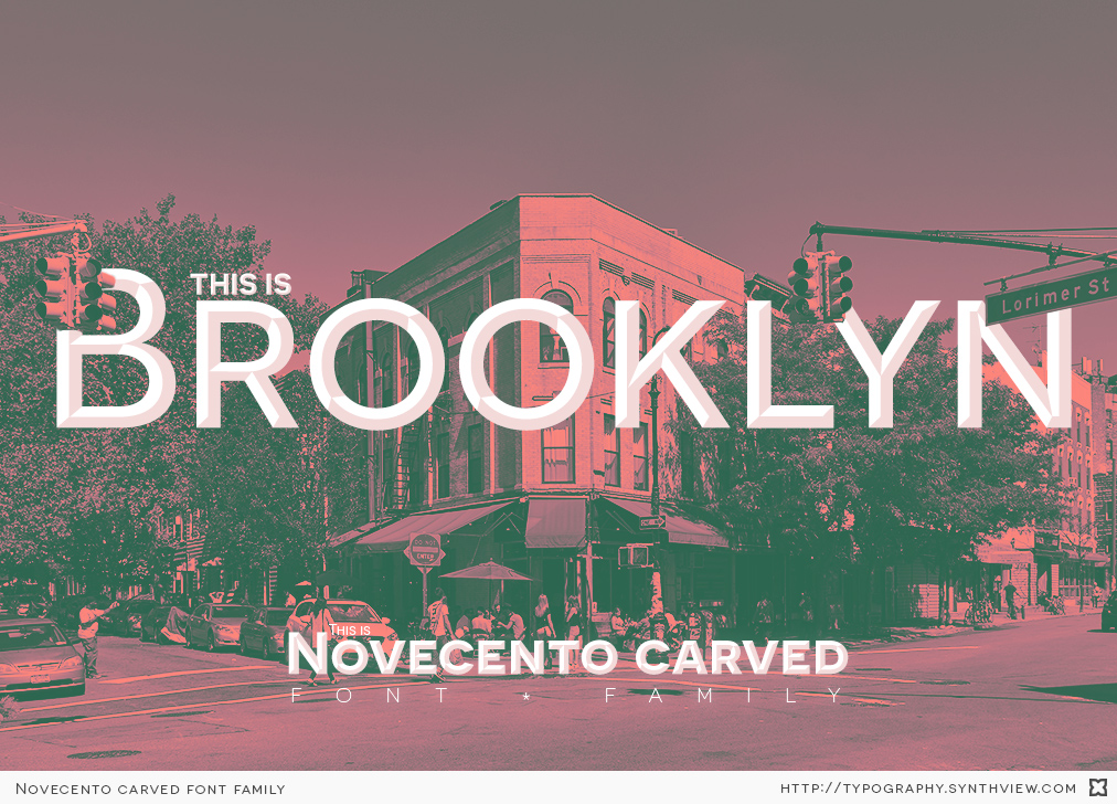 Novecento carved specimen: an image of a building in Brooklyn, NYC.
