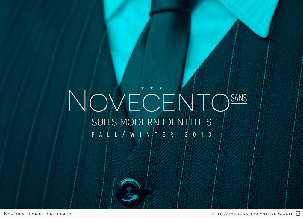 Novecento sans suits modern identities.